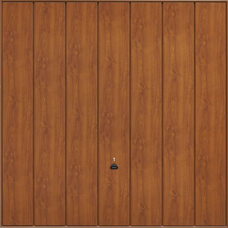 Garador up and over - Steel_Sherwood_golden_oak_timber