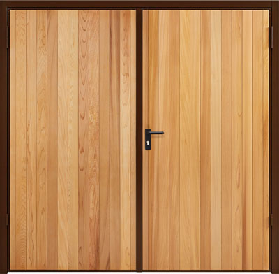 garador side hinged vertical cedar