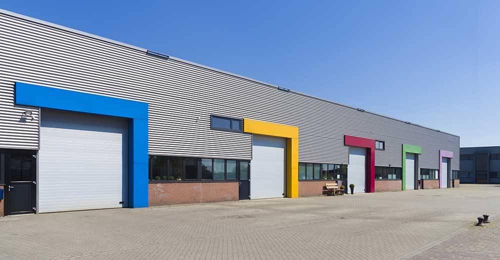 Roller shutter doors in industrial units