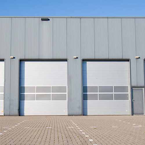 commercial roller shutters on factory