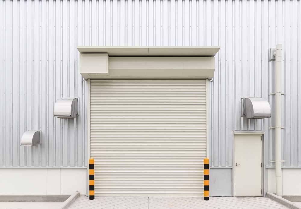 newly installed roller door